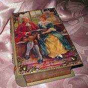 Для дома и интерьера ручной работы. Ярмарка Мастеров - ручная работа Книга-шкатулка За чтением. Handmade.