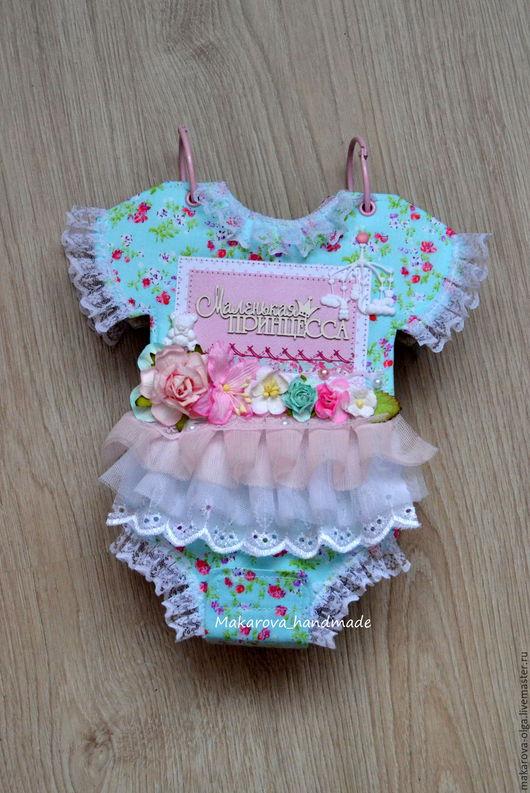 """Подарки для новорожденных, ручной работы. Ярмарка Мастеров - ручная работа. Купить Детский фотоальбом """"Бодик"""" для девочки. Handmade. Розовый"""