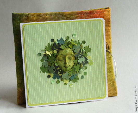 """Открытки на все случаи жизни ручной работы. Ярмарка Мастеров - ручная работа. Купить """"Лесная Фея"""" - открытка в тканевой сумочке. Handmade."""