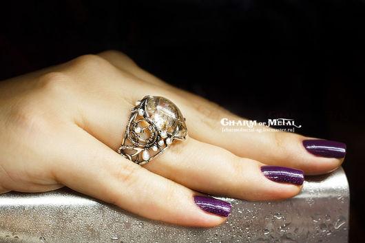 """Кольца ручной работы. Ярмарка Мастеров - ручная работа. Купить """"Phial of Galadriel"""" Серебряное кольцо. Handmade. Украшение, эльфийка"""