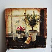 """Картины и панно ручной работы. Ярмарка Мастеров - ручная работа Картина на дереве """"Натюрморт Прованс"""". Handmade."""