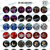 Материалы для творчества handmade. Livemaster - original item Eyes for Blythe, Happy New Year, 14 mm, printout metallic. Handmade.