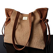 Сумки и аксессуары handmade. Livemaster - original item Beige suede bag, suede bag, light walnut, bag suede. Handmade.