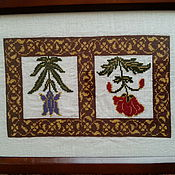 Для дома и интерьера ручной работы. Ярмарка Мастеров - ручная работа Шкатулка, украшенная вышивкой. Handmade.