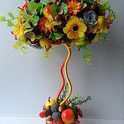 """Цветы и флористика ручной работы. Ярмарка Мастеров - ручная работа Топиарий """"Ах, осень!..""""  Дерево Счастья. Handmade."""