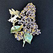 Винтаж handmade. Livemaster - original item Lilac Fairy Brooch Kirks folly Usa. Handmade.