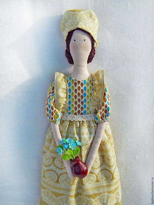 Куклы Тильды ручной работы. Ярмарка Мастеров - ручная работа. Купить кукла Эльза. Handmade. Оливковый, кукла текстильная, для девочки