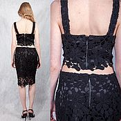 Одежда handmade. Livemaster - original item Lace Wool suit from a top and skirt. Handmade.