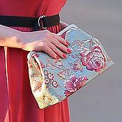 Сумки и аксессуары handmade. Livemaster - original item In stock! Clutch Floral textile on the clasp. Handmade.
