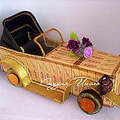 Подарки к праздникам ручной работы. Ярмарка Мастеров - ручная работа Ретро автомобиль (шоколадный). Handmade.
