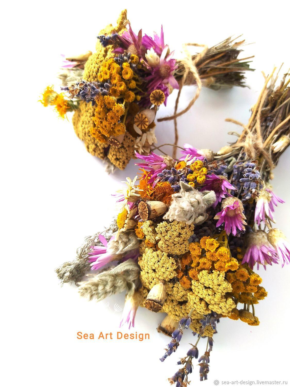 Мини-букетик сухоцветов разнотравья Крыма - комплимент, Букеты, Севастополь,  Фото №1