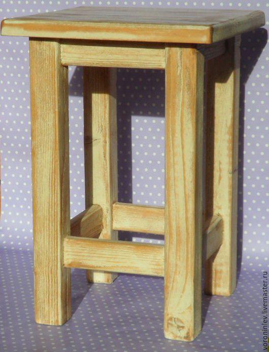 Мебель ручной работы. Ярмарка Мастеров - ручная работа. Купить Табурет. Handmade. Бежевый, массив дерева, для кухни