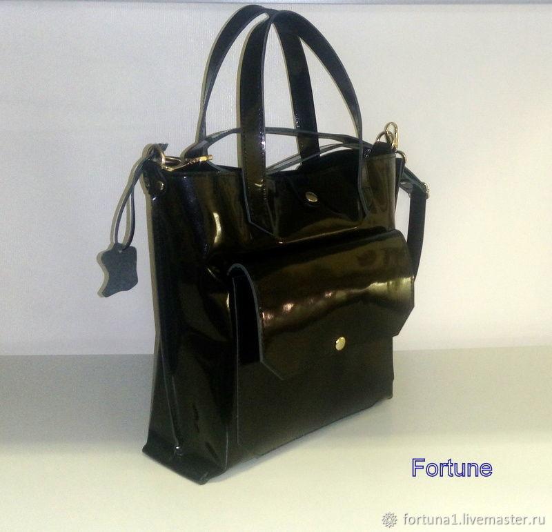 Leather bag ' shopper', Classic Bag, St. Petersburg,  Фото №1