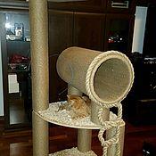 Домик для питомца ручной работы. Ярмарка Мастеров - ручная работа Дом-когтеточка для кошек по вашим размерам. Handmade.