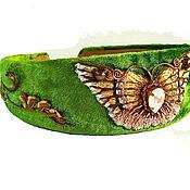 Украшения handmade. Livemaster - original item Embroidered velvet Hoop earrings