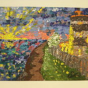 Картины и панно ручной работы. Ярмарка Мастеров - ручная работа Розовый закат ( Анапа). Handmade.