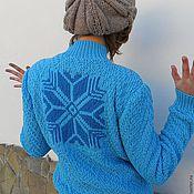 Одежда ручной работы. Ярмарка Мастеров - ручная работа Джемпер Снегопад. Handmade.