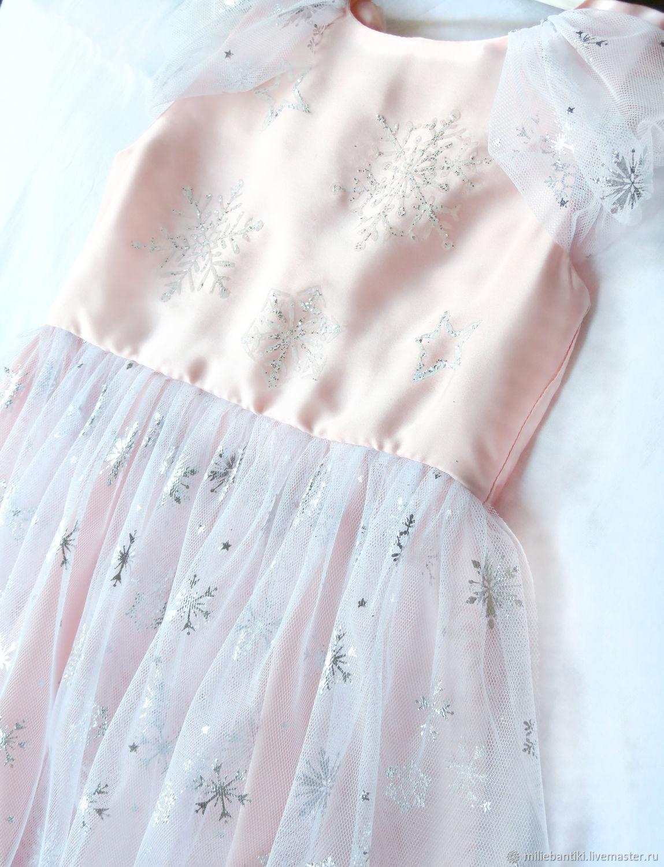 """Платье """"Розовая снежинка"""""""