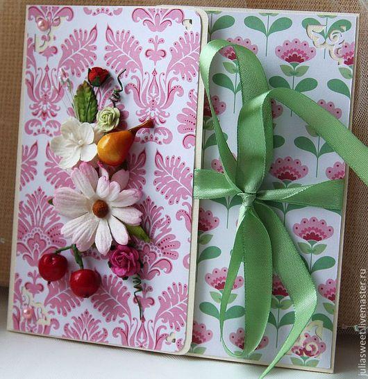 """Подарки на свадьбу ручной работы. Ярмарка Мастеров - ручная работа. Купить Конверт для диска """"Fruit and flowers"""". Handmade."""