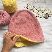Аксессуары ручной работы. Ярмарка Мастеров - ручная работа Двухсторонняя шапка бини. Handmade.