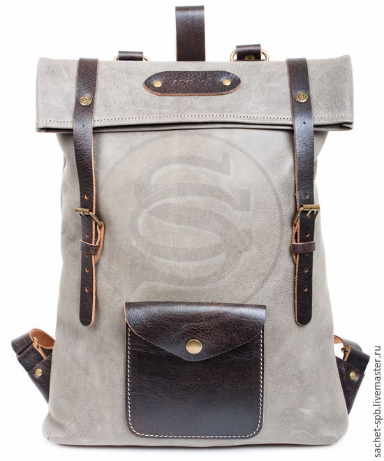 The backpack from the Vogue grey leather, Backpacks, St. Petersburg,  Фото №1