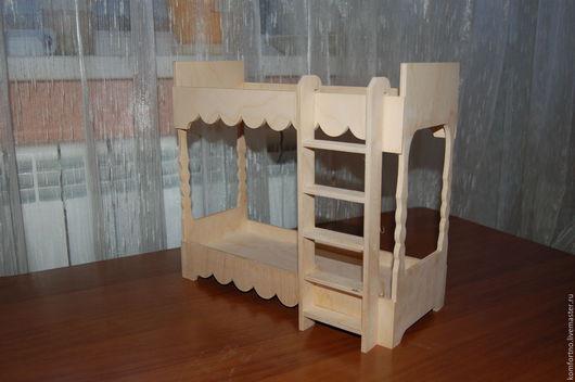 Кукольная кроватка двухярусная.Заготовка для декупажа и росписи.