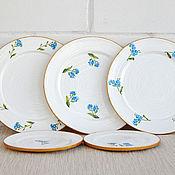 """Посуда ручной работы. Ярмарка Мастеров - ручная работа """"Не забывай меня"""". Тарелки на стену.. Handmade."""