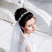 Свадебный салон ручной работы. Ярмарка Мастеров - ручная работа Свадебный веночек для невесты с цветочками. Handmade.