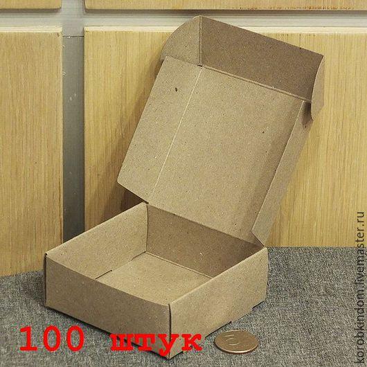 Упаковка ручной работы. Ярмарка Мастеров - ручная работа. Купить 100 штук - коробочка 9х9х3,5 крафт. Handmade. Коробочка