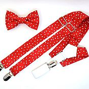 Аксессуары handmade. Livemaster - original item set bow tie and braces