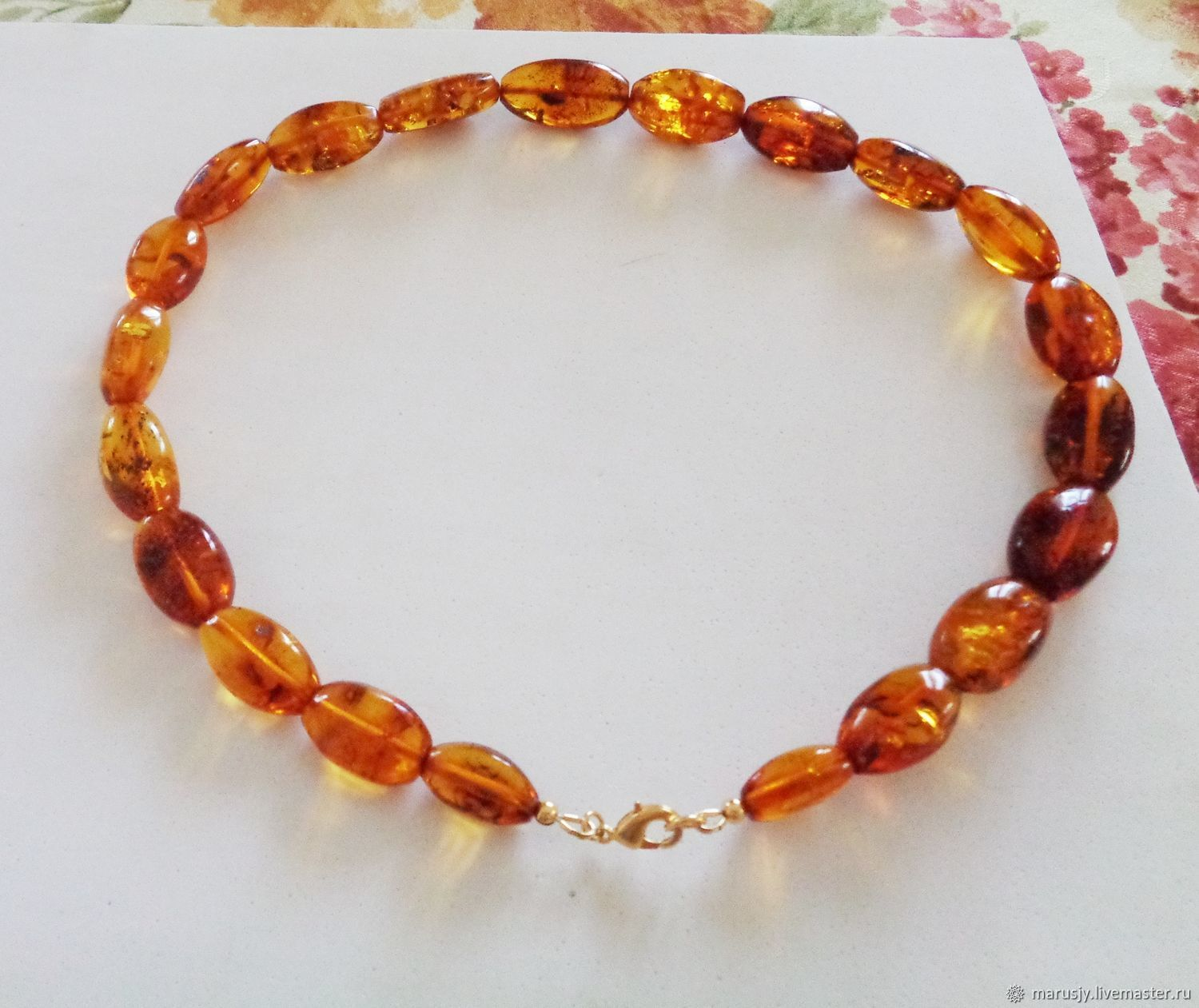 Large amber necklace (Baltic States), Necklace, Sergiev Posad,  Фото №1