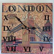 Для дома и интерьера ручной работы. Ярмарка Мастеров - ручная работа Часы Лондон. Handmade.