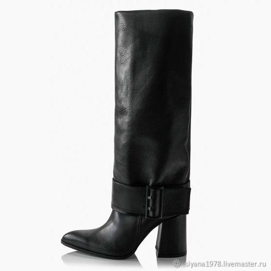 54837a8db ручной работы. Ярмарка Мастеров - ручная работа. Купить Женские кожаные  сапоги демисезонные.