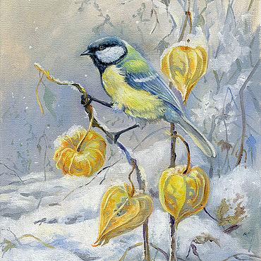 """Картины и панно ручной работы. Ярмарка Мастеров - ручная работа Картины: """"Заморозки"""". Handmade."""