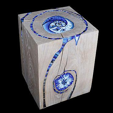 Мебель ручной работы. Ярмарка Мастеров - ручная работа Табурет / журнальный стол. Пень, декорированный смальтой. Handmade.