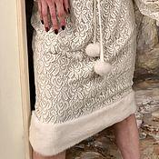 Одежда ручной работы. Ярмарка Мастеров - ручная работа Гипюровое платье с норкой. Handmade.