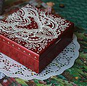 Для дома и интерьера ручной работы. Ярмарка Мастеров - ручная работа Шкатулка с узором в стиле мехенди. Handmade.