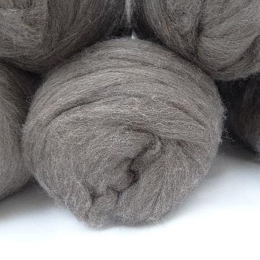 Materials for creativity handmade. Livemaster - original item Merino in tops (Merino Sliver) - natural grey 500 gr. Handmade.