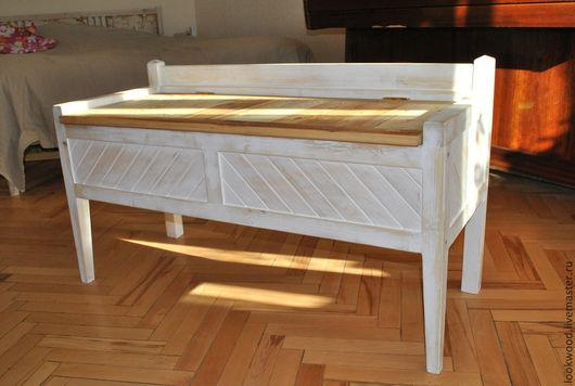 Мебель ручной работы. Ярмарка Мастеров - ручная работа. Купить Скамья- сундук. Handmade. Белый, сундук, сундук под старину