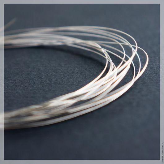 Для украшений ручной работы. Ярмарка Мастеров - ручная работа. Купить Проволока 0,5 мм серебро 925 проба. Handmade.