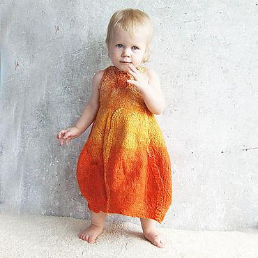 Работы для детей, ручной работы. Ярмарка Мастеров - ручная работа Тыкво-платье для малышки. Handmade.