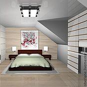 Дизайн и реклама ручной работы. Ярмарка Мастеров - ручная работа спальня в японском стиле. Handmade.