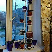 Цветы и флористика handmade. Livemaster - original item Stand on the window sill. Handmade.