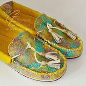 Обувь ручной работы. Ярмарка Мастеров - ручная работа Мокасины домашние женские. Handmade.