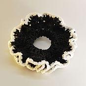 Украшения ручной работы. Ярмарка Мастеров - ручная работа Резинка для волос черно-белая. Handmade.