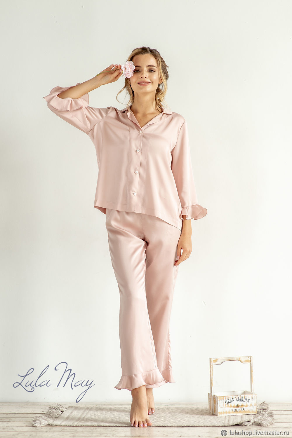 Women's pajamas with pants 'Love' from tensile (Lyocell), Pyjamas, Moscow,  Фото №1