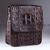 Сумки и аксессуары handmade. Livemaster - original item Textured leather bag Siamese crocodile IMA0646K1. Handmade.