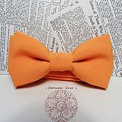 Аксессуары ручной работы. Ярмарка Мастеров - ручная работа Галстук бабочка Апельсин/ однотонная бабочка /классическая бабочка в 2. Handmade.