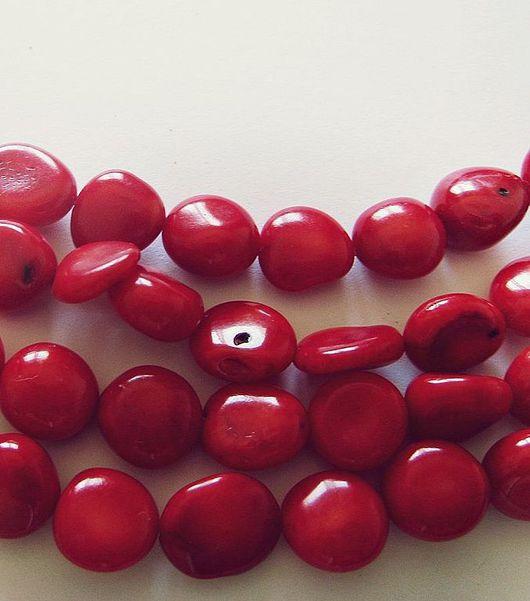 Для украшений ручной работы. Ярмарка Мастеров - ручная работа. Купить Красные кораллы. Бусины свободной формы 10х10мм. Handmade.