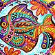 """Декоративная посуда ручной работы. """"Мексиканская рыбка"""" декоративная тарелка. Декоративные тарелки Тани Шест. Ярмарка Мастеров. Рыбка"""